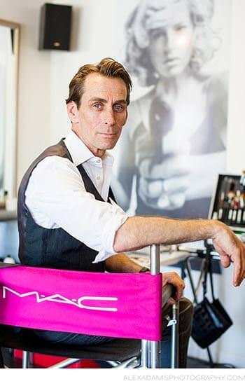 Scott M., hairdresser and makeup artist