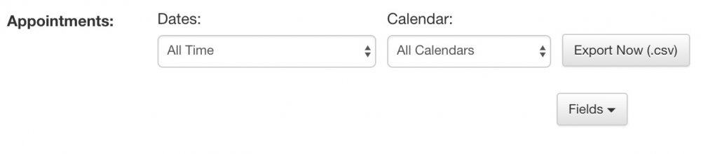 In the appointment sections, choose the dates and which calendars you want to export