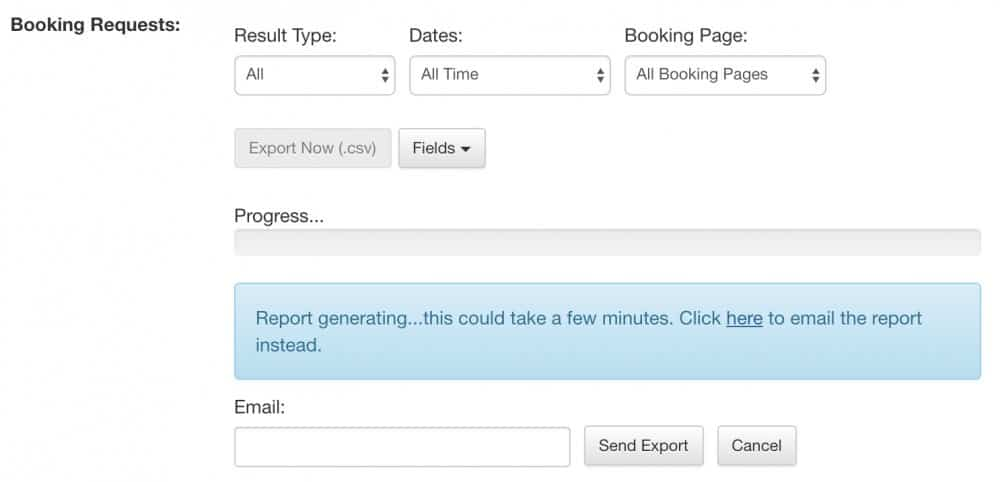 apptoto booking requests report export