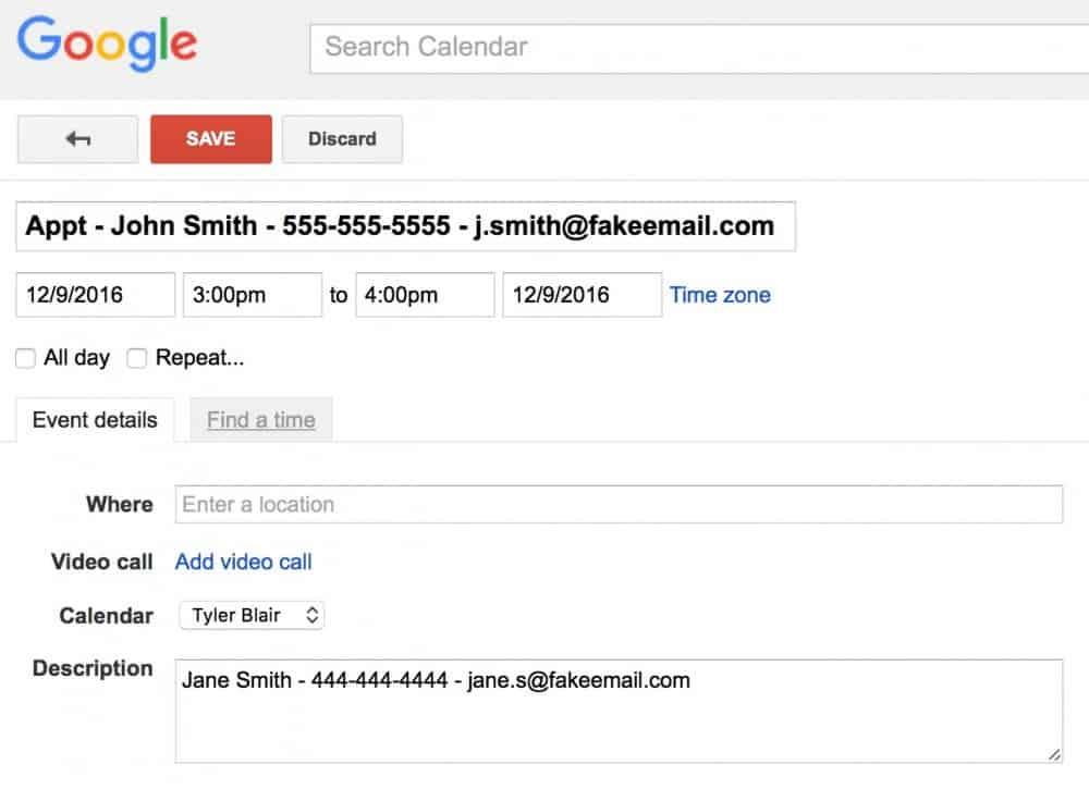 Apptoto Google calendar best practices