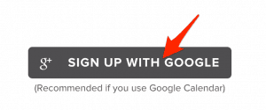 Signup for Google