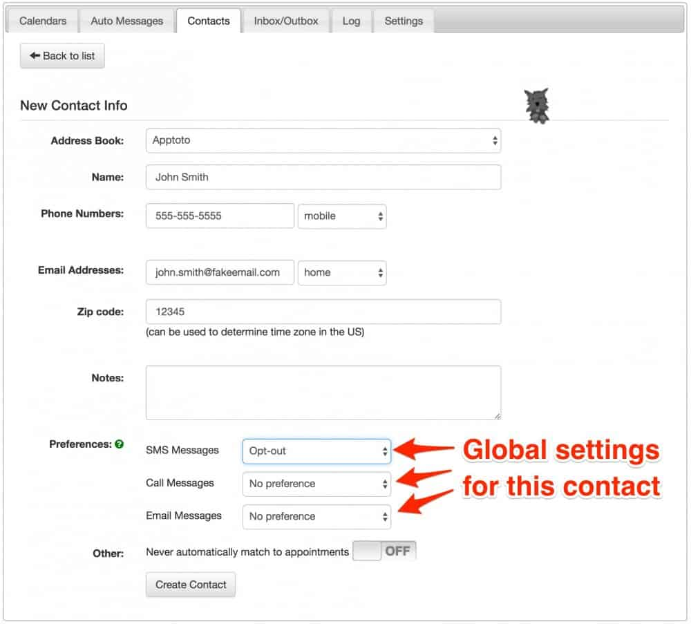 Apptoto manual contacts new