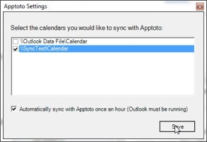 Apptoto Outlook Setup